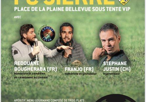 Affiche du repas de soutien du FC Sierre